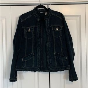 Chico's Platinum Collection Size 2 Denim Jacket